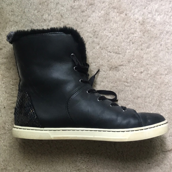 UGG Shoes - Ugg faux fur high top sneakers